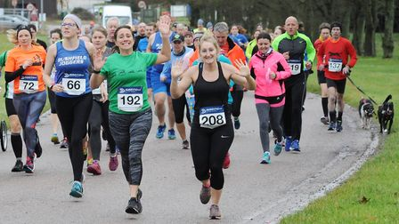 Action from RAF Marham Flyers' New Year's Eve 10k run. Photo: Tim Smith