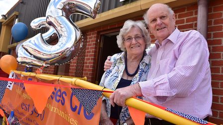 Peter and Margery Sindall pictured at Onward Enterprises' 25th anniversary. Picture: SONYA DUNCAN