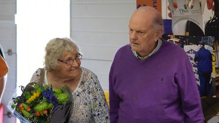 Peter Sindall with his wife Marjorie. Picture: ANDREW PAPWORTH