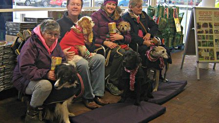 Friends from The Barking Bugle with their furry companions. Picture: The Barking Bugle