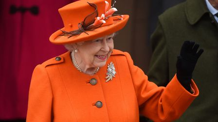 The Queen leaves church. Picture: Joe Giddens/PA Wire