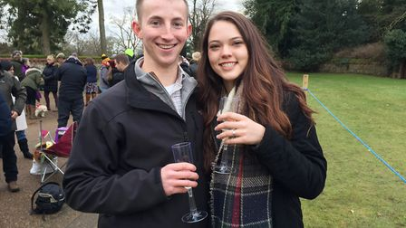 Michael Metz asked Ashley Millican to marry him as they visited the Queens Sandringham Estate on Ch