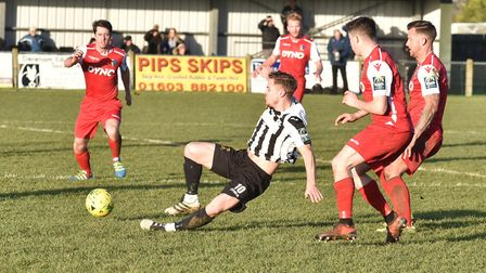 Jamie Forshaw in action at Aldiss Park. Picture: Sonya Duncan