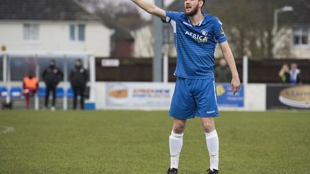 Defender Rory McAuley was outstanding for Lowestoft. Picture: Nick Butcher