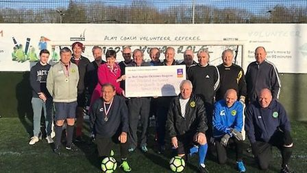 Veteran footballers from Norwich SOCA Seniors took part in a fundraising five-a-side tournament in a