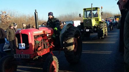 The Larling tractor run raised more than £3,000 for Star Throwers. Picture: VICTORIA PIGG