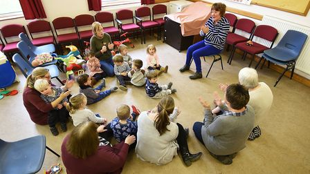 A group of Sprowston childminders and their cared for children at Sprowston Methodist Church.Pictu
