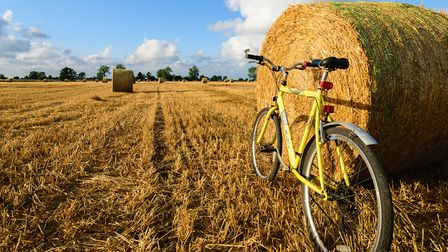 Bicycle and straw bales at North Burlingham. Pictrure: David Brooker / iwitness24