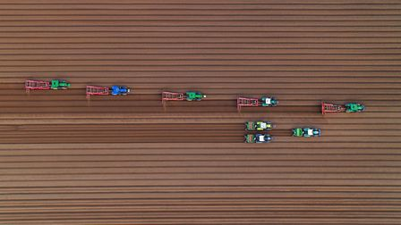 Potato producers at East Winch, photographed from the air. Picture: Chris Taylor / iwitness24