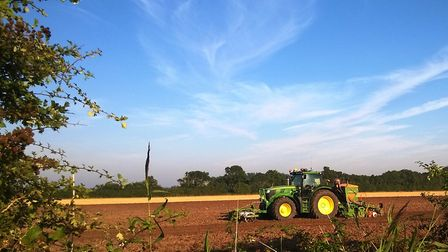 A tractor at work in a Norfolk field. Picture: Carmina McConnell / iwitness24