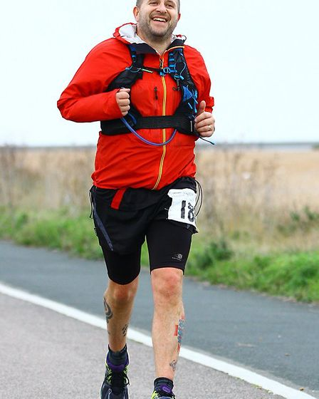 Ian Odgers running a marathon in Kent. Picture: Submitted by Ian Odgers.