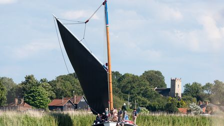 Wherry Albion on the River Thurne. Norfolk Broads. Picture: James Bass Photography