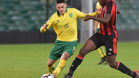 Savvas Mourgos made his injury comeback against Bournemouth for Norwich City U23s. Picture: Nick But