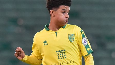 Jordan Thomas came on in the 61st minute of Norwich City Under-23' win over Bournemouth at Carrow Ro