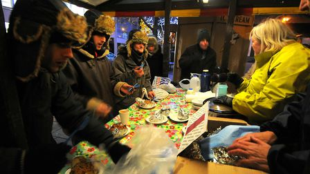 The soup run on Hay Hill giving warm food to homeless people in Norwich.; PHOTO: ANTONY KELLY