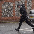 File photos of snow showers in the city centre. Picture: DENISE BRADLEY