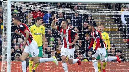Sheffield United were too strong for the Canaries at Carrow Road. Picture: Paul Chesterton/Focus Ima