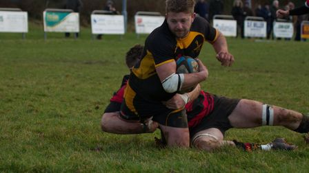 James Hall scored one of Southwold's second half tries as they launched a brave fightback in Surrey.