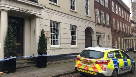 Police cordoned off an area in Tombland, Norwich following reports of a sexual assault. Picture: AND