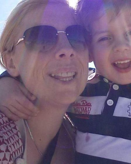 Becky Marsh and her son William, six.