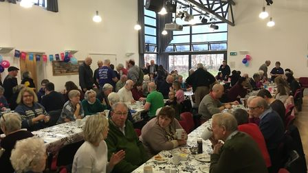 More than 150 people turned up to a village community breakfast in aid of Cancer Research UK. Photo: