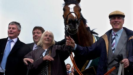 Trainer Pam Sly, pictured here with the Stan James 1000 Guineas Stakes at Newmarket racecourse in 20