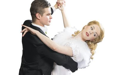 Alex Green as Jerry Travers and Kathryn White as Dale Tremont in Top Hat. Photo: Submitted