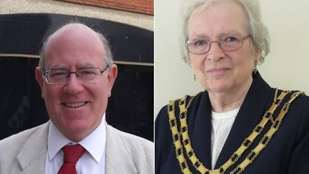 Breckland District councillor Harry Clarke and Mayor Hilary Bushell. Picture: Archant
