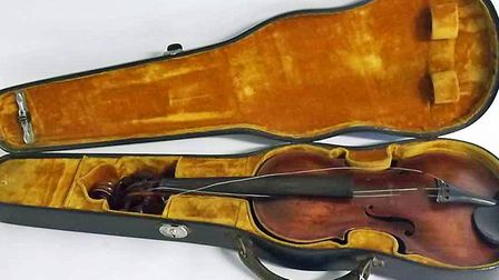 A mahogany violin dating from 1780, which sold for 1,600.