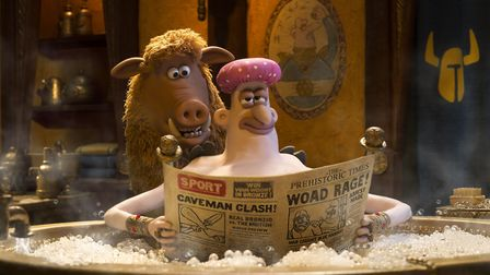 Hobnob (voiced by Nick Park) and Lord Nooth (Tom Hiddleston) in Early Man. Photo: Studiocanal/BFI/Ch