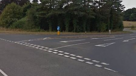 The crash happened in Keswick at the junction of the B1113 and Low Road. Picture Google.