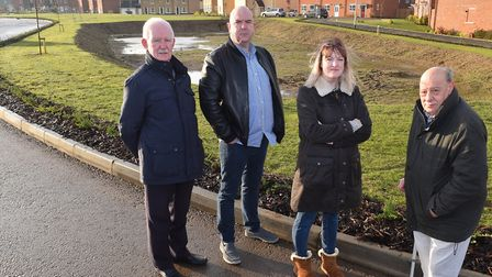 Windmill Loke residents Kelly Hansford, Matthew Armitage, Fraser Howson and Robin Back are angry tha