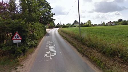 The street in Henstead where a horse was hit by a car. Picture: Google Maps