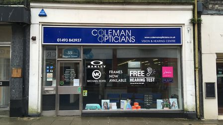 Coleman Opticians in Great Yarmouth is to relaunch as a Sports Vision Centre. Picture: Jacob Massey
