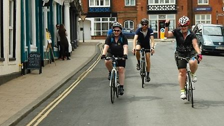 Participants in the inaugural Diss Cyclathon. Courtesy of Neil Collins.