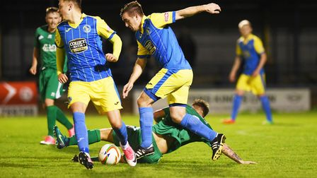 Craig Parker skips a tackle against Hitchin back in October. Picture: Ian Burt