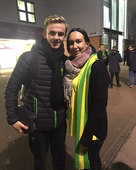 Cheryl Minns, from Loddon, said she met James Maddison on Saturday after the Canaries drew 0-0 again