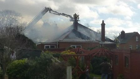 Fire tore through a house on Addison Road in Gorleston. Picture: John Cooper
