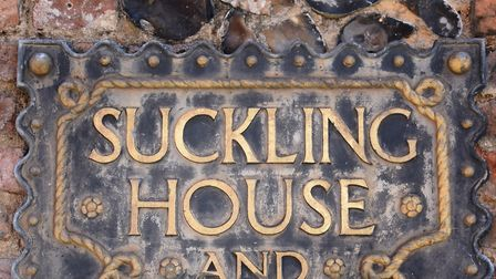 The plaque at Cinema City, formerly Suckling House. Picture: DENISE BRADLEY