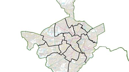 The political map of Norwich could be changing. Pic: Local Government Boundary Commission for Englan