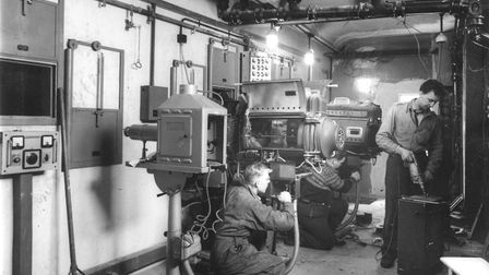 The projection room at the Regent Cinema on Prince of Wales Road (later the ABC and the Cannon) pict