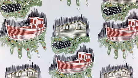 Wallpaper design by Rachel Hutchins, whose work will be on show at Sheringham Museum from February 1