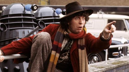 Tom Baker became Doctor Who in 1974 and made long, stripy scarves cool