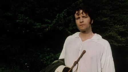 Colin Firth as Mr Darcy in the famous wet shirt scene