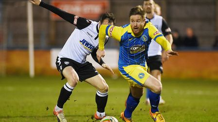 Michael Gash, who scored Lynn's first goal against Hereford. Picture: Ian Burt