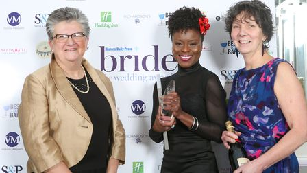 Winner of the Wedding Innovation Award (centre) Emily Jupp of All About Shoes at the the EDP Bride: