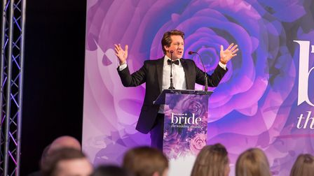 Host of the EDP Bride: Wedding Awards 2018, David Whiteley during the ceremony at Holiday Inn Norwic