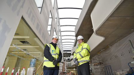 A look around the new Quadram Institute which is near completion. Consultant hepatologist Dr Simon R