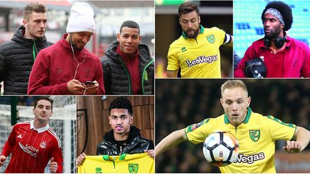 The big names of City's January transfer window. Clockwise from top left, Dennis Srbeny, Moritz Leit
