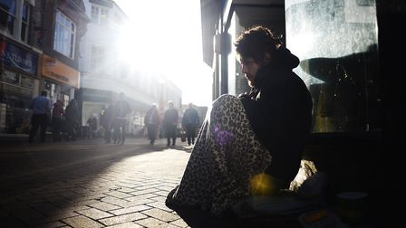 Homeless man Mark Bruneel is hoping to be given somewhere to live soon in Dereham. Picture: Ian Burt
